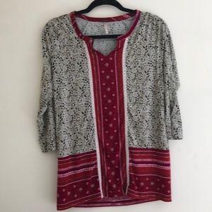 Poof! Printed blouse